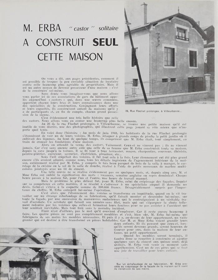 Construire Sa Maison à Tout Prix, Années 1950
