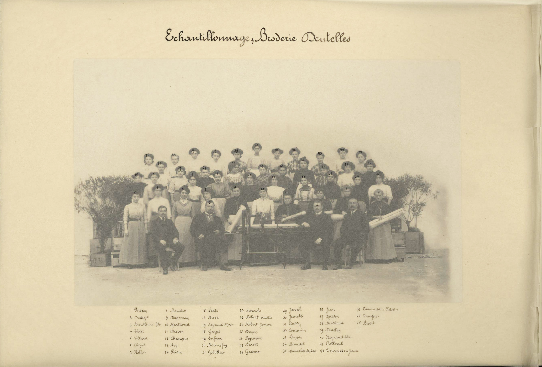 La Maison Dognin et son personnel en 1910