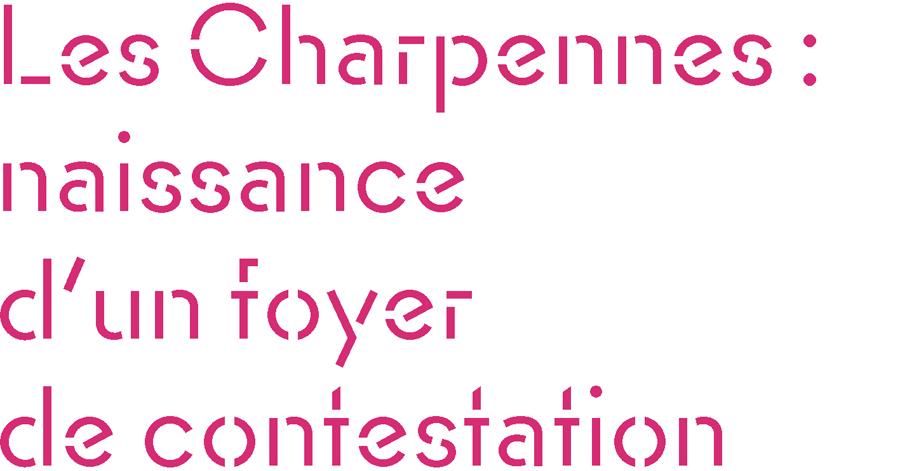 Le quartier des Charpennes se développe à partir de la construction du pont Morand sur le Rhône en 1784. Le nom du quartier apparaît dans les archives à la suite de « l'émeute des Charpennes » du 9 août 1786 : les tisseurs ne peuvent plus payer leurs ouvriers qui cherchent alors à s'expatrier, malgré l'interdiction du consulat de Lyon. Quatre canuts enfreignent la règle et rejoignent les Charpennes. Ils y sont arrêtés, puis pendus place des Terreaux, ce qui provoque manifestation des ouvriers et répression. Après la Révolution, le développement du nouveau quartier des Brotteaux favorise celui, contigu, des Charpennes ; au début du 19 e siècle, les premiers ateliers de tissage se déconcentrent depuis la Croix-Rousse. C'est alors un faubourg assez peuplé, à bonne distance de la paroisse historique de Cusset.