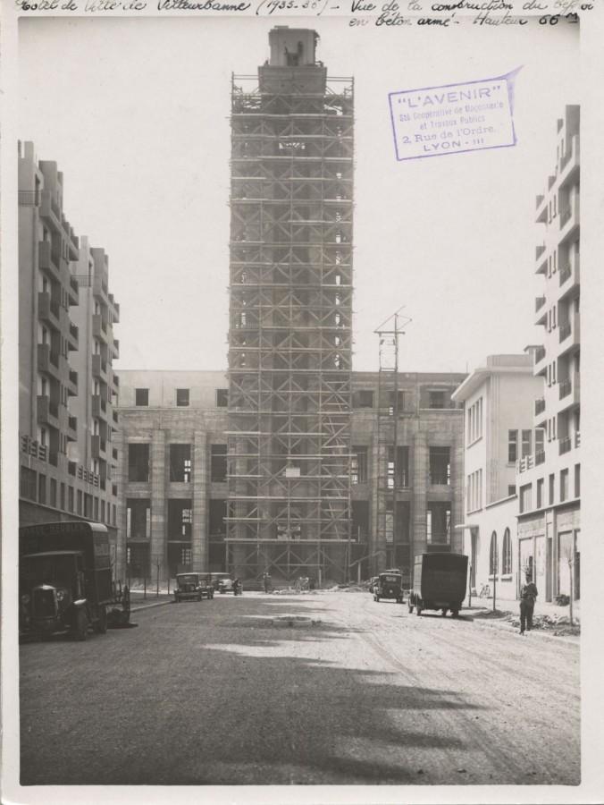 Construction de l'hôtel de ville des Gratte-ciel
