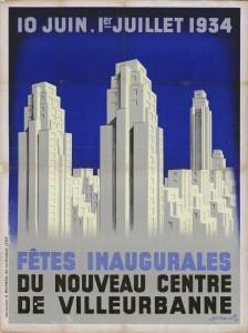 Inauguration des Gratte-Ciel en juin 1934 : affiche d'Albert Boucherat. (8Fi132)
