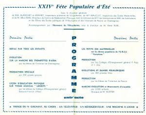 XXIVe fête de la Jeunesse : programme des festivités 30 mai 1964 (4R25)