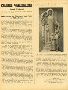 Bulletin de l'Union commerciale et industrielle de Villeurbanne, 25 nov. 1925 (AMV Le Rize)