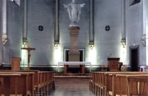la nef de l'église du Coeur immaculé de Marie avant démolition.Photo Excler