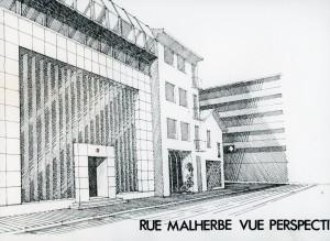 projet d'extension de 1983 (architectes Eyraud-Traynard)