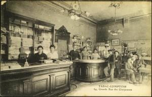 Tabac-Comptoir 59 grande rue des Charpennes (actuelle Gabriel Péri) vers 1910
