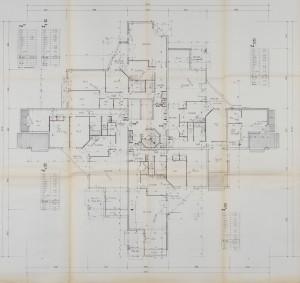Plan d'étage de la résidence Jean-Gabin (architectes Gimbert et Vergely)