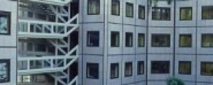 Cour intérieure des bâtiments du SEPTEN, 1986, (ph. OVIDE)