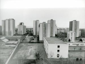 Le quartier de la Perralière en mars 1987, photo D. Devinaz