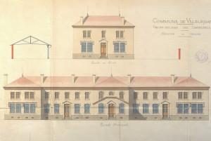 plan élévation façades 1889 (arch. Chatelan) (1M15)