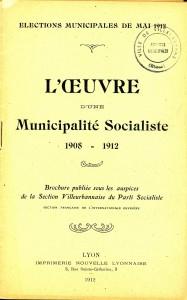 plaquette de propagande électorale pour les élections municipales de mai 1912