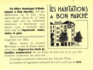 extrait de la plaquette publiée pour les élections municipales de 1935