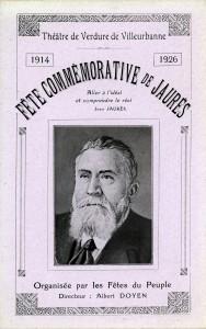 Programme de la fête commémorative de 1926 au théâtre de verdure de Villeurbanne (4R22)