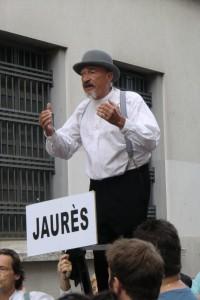 La Compagnie CIA interprète « Rue Jean Jaurès » ( texte de Frédéric Michelet) lors des Invites en juin 2014 (photo C.Moulin)