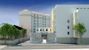 maquette du projet Est Métropole Habitat. Photo agence architectes A-MAS (Saint Etienne)