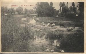 Lavandières au Pont des Planches, au bord de la Rize (don J.-P. Masson)