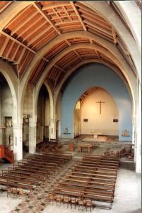 La nef restaurée en 1996.