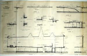Plan coupe de l'église Notre-Dame de l'Espérance (permis de construire 359/1963, AMV)