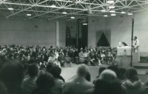 Première messe en 1966 (archives paroissiales)