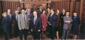 Après les élections de 1995, l'équipe municipale (ph. Schuller)
