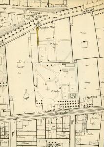 La propriété Leplant sur le plan cadastral des années 1930 (AMV, 1M143)
