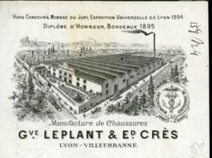 papier à en-tête de la manufacture de chaussures G. Leplant en 1897 (AMV)