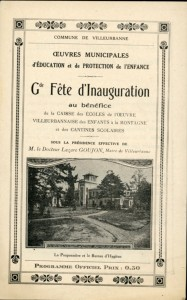 Programme de la fête inaugurale du 5 juillet 1925 (AMV 4R22)