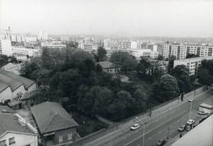Le parc initial de la société J.-B. Martin entourant la maison patronale avant 1980 (ph. D. Devinaz, AMV)