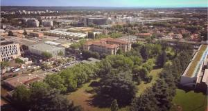 Vue aérienne sur le site du futur projet urbain de l'Autre Soie (Ph. Desvignes Conseil).