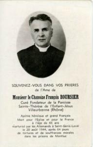 carte-souvenir en mémoire du chanoine François Boursier