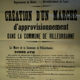 Affiche publique annonçant la création du marché de la mairie en 1892- 4F1 - AMV