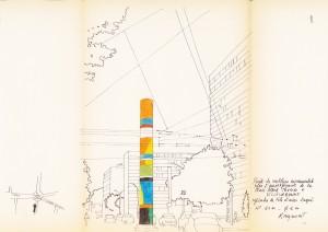Projet de sculpture monumentale pour l'aménagement de la place Albert Thomas, figure 1 (AMV - 231W26)