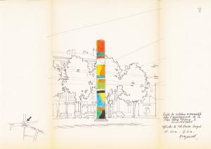 Projet de sculpture monumentale pour l'aménagement de la place Albert Thomas, figure 2 (AMV - 231W26)