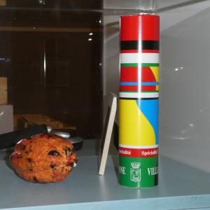 Boîte créée pour le chocolatier Vuillermet, présentée lors de l'exposition