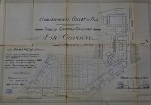 Plan de la cité ouvrière de Château-Gaillard (sd, AMV 1O310).