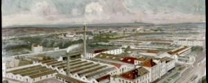 Le site de l'imprimerie Arnaud : peinture à l'huile (non datée) (cote AMV 13Fi9)