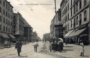 Cours Émile-Zola, depuis les Charpennes carte postale