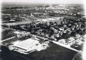 vue aérienne du site de la TASE et du cantonnement de la 47e compagnie ©musée Nicéphore Niépce / ville de Chalon-sur-Saône / coll. Combier.