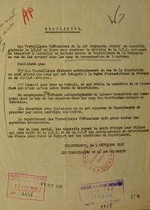 Résolution de la 47e compagnie adressée au ministère des Colonies en 1948 (Arch. Min. Affaires étrangères, P103B,/104/89)