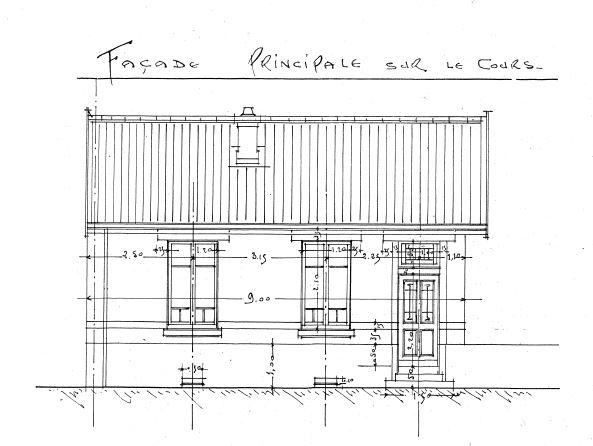 Extrait du casier sanitaire (5 J 343). Plan de l'architecte daté de 1923.