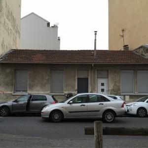 Photo de la maison du 40 cours de la République avant démolition (Pascale Beyer-Durif)