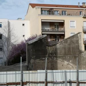 Photo après démolition de la maison du 40, cours de la République (Vincent Veschambre, mars 2019)