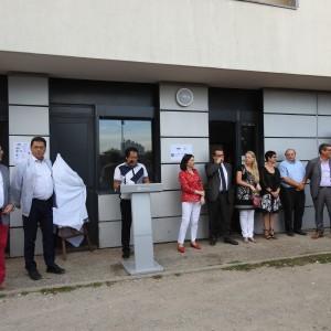 Inauguration de l'Espace Baratin (Centre social de Cusset) le 18 septembre 2018. Photo : Nicolas Boilloux.