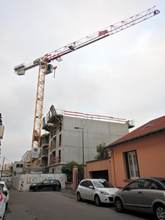 Vue du chantier depuis le sud-ouest (30 octobre 2016)