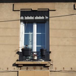 Détail : fenêtre et garde corps
